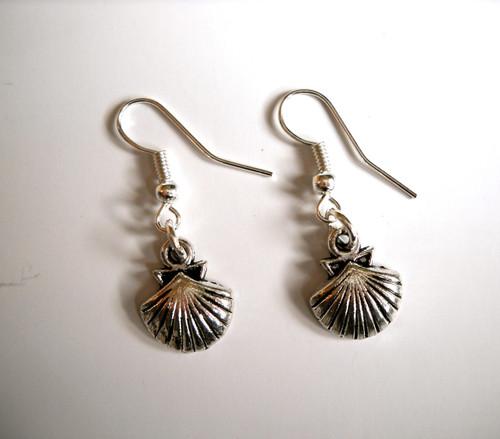 Camino de Santiago Pilgrim Scallop Shell Earrings