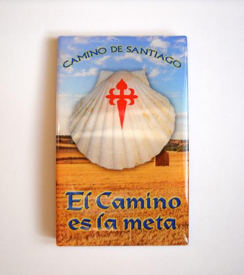 Camino de Santiago Pilgrim Souvenir Vieira Magnet