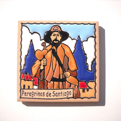 Camino de Santiago Pilgrim Tile Way Of St. James Fridge magnet Peregrino