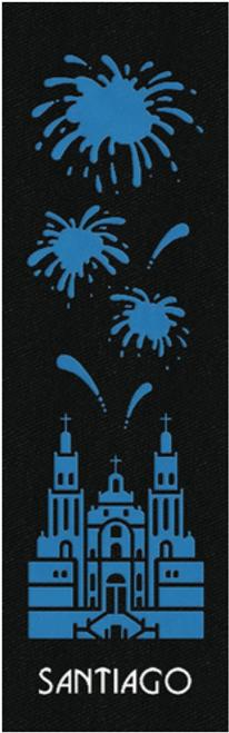 Camino de Santiago Pilgrim Souvenir Printed Fabric Bookmark (3 of 8)