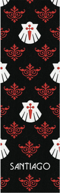 Camino de Santiago Pilgrim Souvenir Printed Fabric Bookmark (6 of 8)