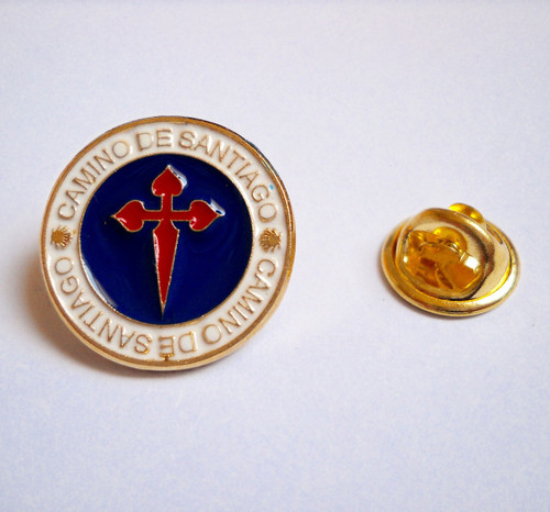 Camino de Santiago St. James Cross Pilgrim Souvenir Lapel Pin