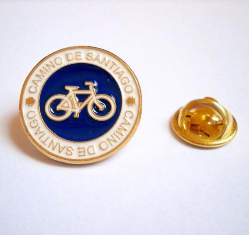 Camino de Santiago St. James Way Bicycle Pilgrim Souvenir Lapel Pin