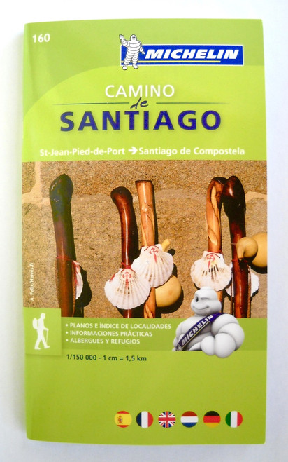 Camino de Santiago Frances Stage Map / Guide - Michelin 160