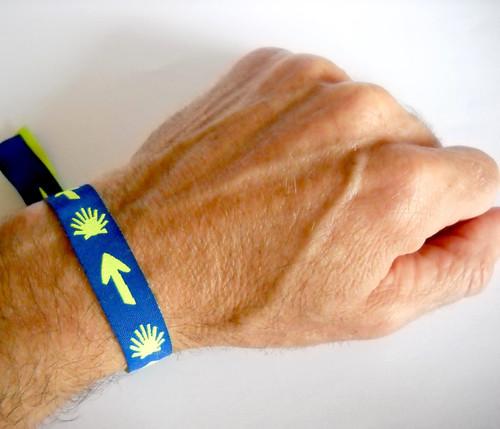 Camino de Santiago Fabric Pilgrim Souvenir Wristband