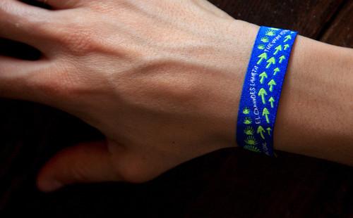 Camino de Santiago Fabric Pilgrim Wristband