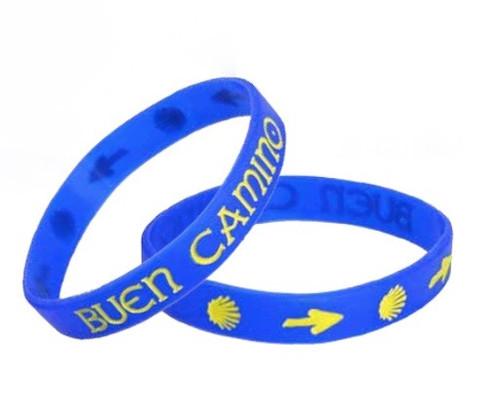 Camino de Santiago Pilgrim Buen Camino Silicone Bracelet Wristband