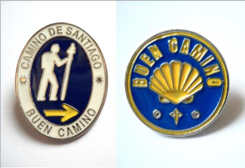"Camino de Santiago Pilgrim ""Buen Camino"" Pin Set"