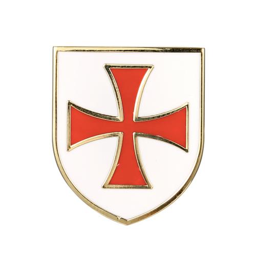 Templar Knight Cross Shield Freemason Masonic Lapel Pin