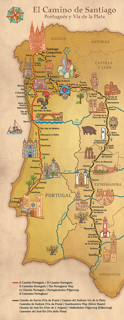 Camino Portugues / Via de la Plata Map
