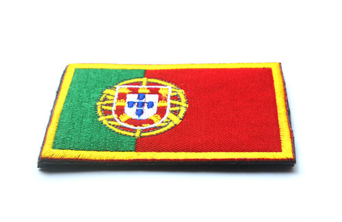Portugal National Flag Embroidered Sew On Parche Portuguese Cloth Badge Patch