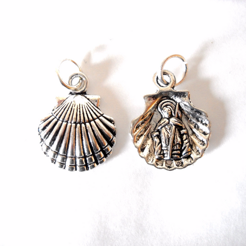 Camino de Santiago Scallop Shell Apostle Necklace / Pendant