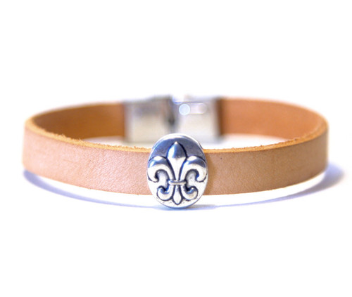 Camino de Santiago St James Way Pilgrim Leather Bracelet