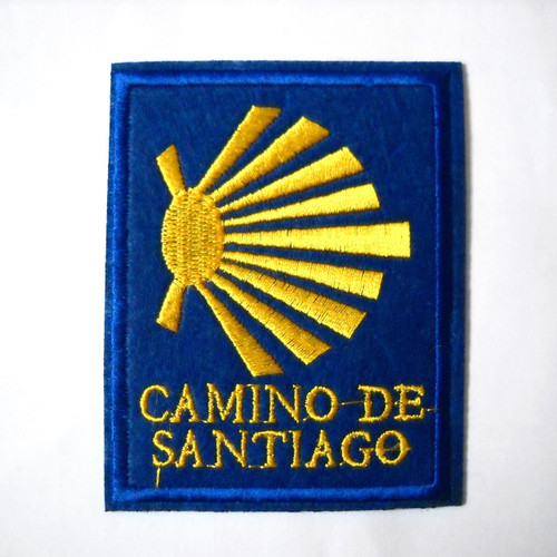 Camino de Santiago Pilgrim Scallop Shell Cloth Patch