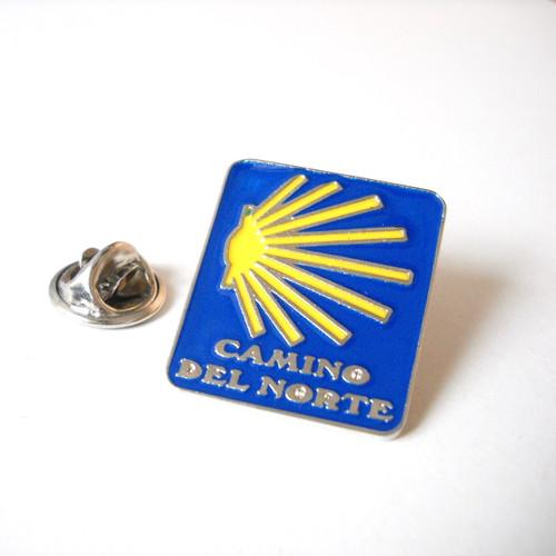Camino de Santiago del Norte / Northern Way Pilgrim Souvenir Lapel Pin