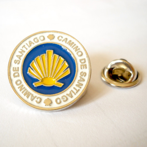 Camino de Santiago Way of St. James Round Pin