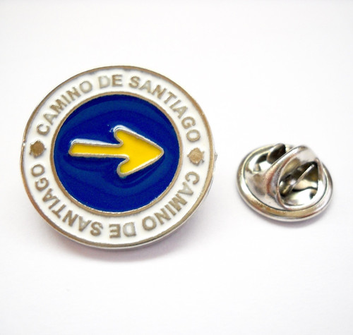 Camino de Santiago Way of St. James Arrow Pin