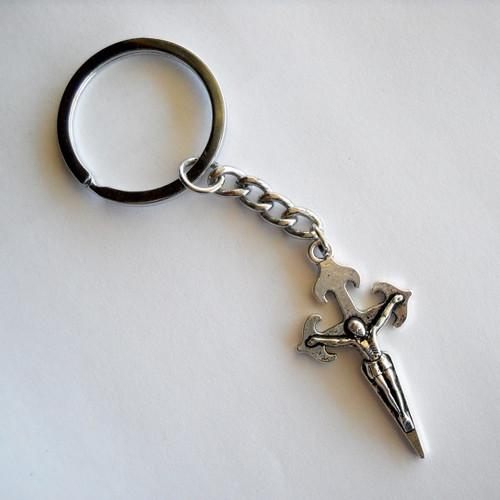 Camino de Santiago St. James Cross Crucifix Key Ring