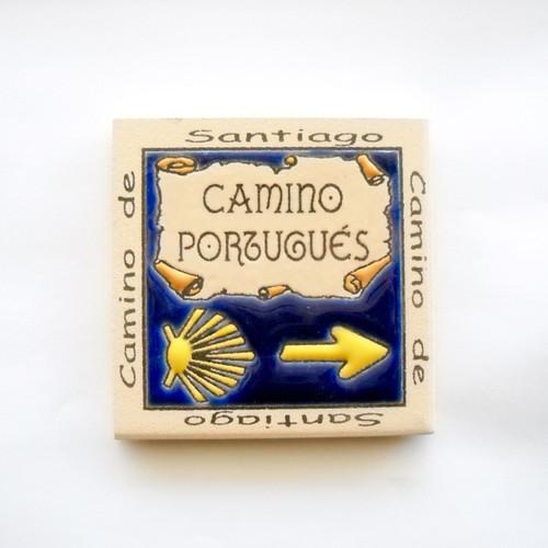 Camino De Santiago Portuguese way Fridge Magnet Tile