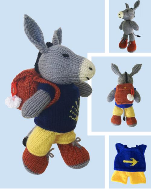 Camino de Santiago Children Donkey PDF Knitting Pattern