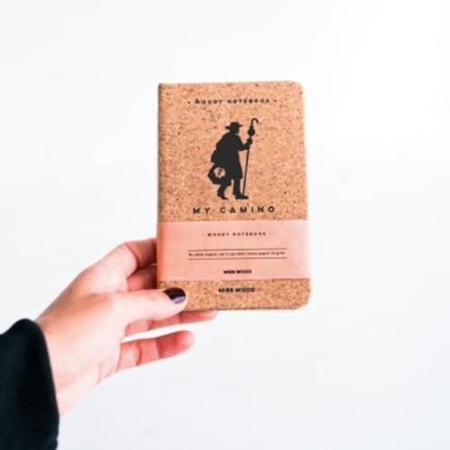 camino de Santiago small cork pilgrim notebook Diary cork covered