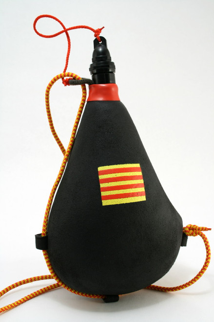 Spanish Bota bag Leather Wineskin Catalonia Flag Wine Skin