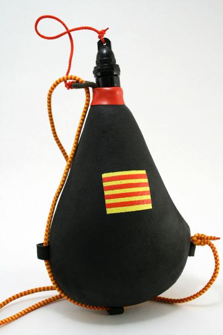 Spanish Bota bag Leather Wineskin Catalonia Flag Wine Skin