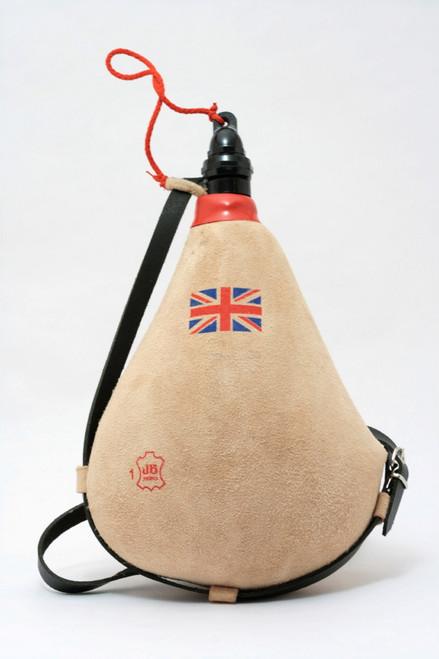 Spanish Bota bag Leather Bag Wineskin British / English Flag Wine Skin