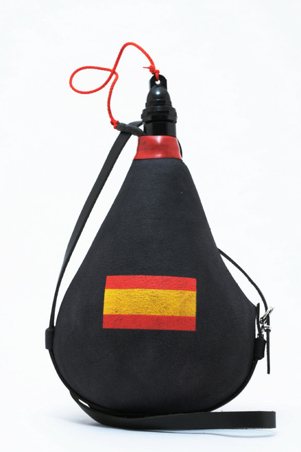 Spanish Leather bota bag Wineskin Spain Flag Wine Skin