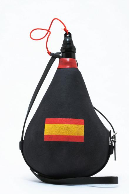 Spanish Leather bota bag Wineskin Spain Flag Wine Skin