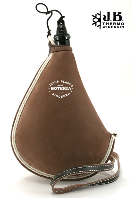 Spanish Bota de vino Thermal Leather Bag 1-1/2 L - Brown