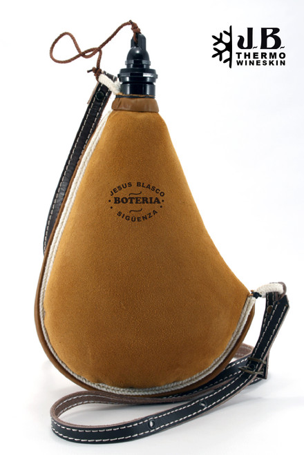 Spanish Bota de vino Thermal Leather Bag 1-1/2 L - Ocre