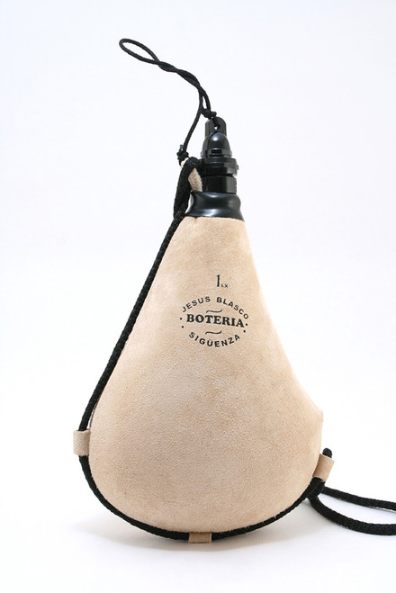 Bota bag suitable for any beverage. Straight, White.