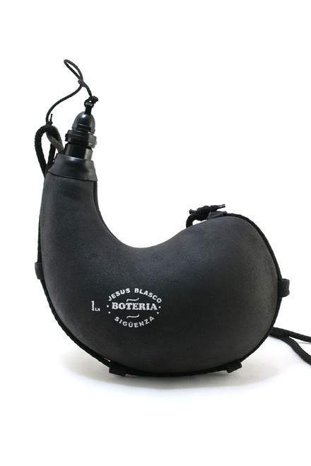 Bota bag suitable for any beverage. Curved, Black.