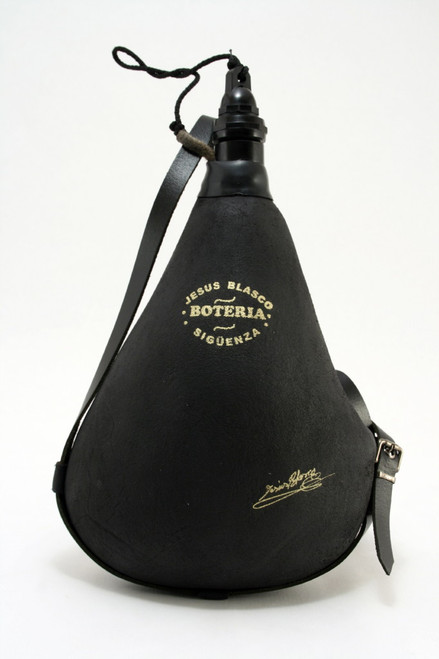Spanish Bota de Vino Leather Bag Wineskin 1 Liter Wine Skin - Made in Spain New