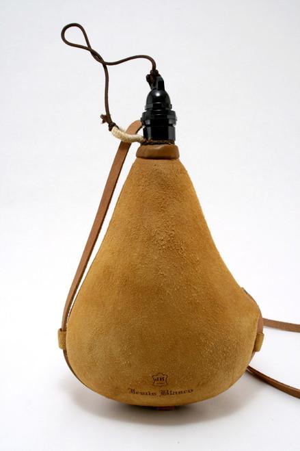 Spanish Bota de Vino Leather Bag Wineskin 1 Liter Wine Skin - Made in Spain