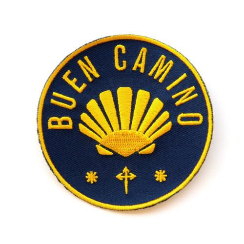 Camino de Santiago Way of St. James Scallop Shell Road Pilgrim Buen Camino Cloth Patch