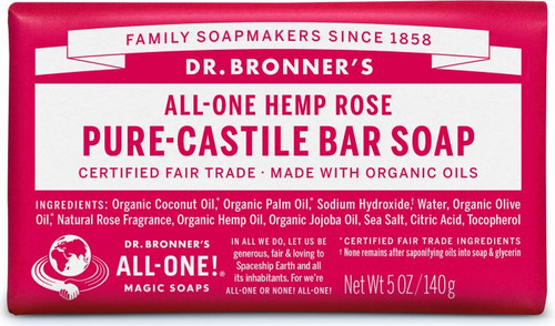 Dr. Bronner's Magic Bar Soap Rose