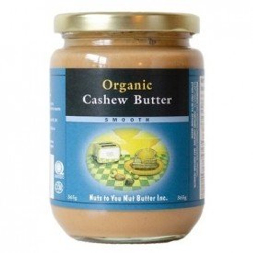 Nuts To You Organic Cashew Butter Smooth 365g