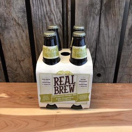 Real Brew Soda - Ginger Ale 4 x 355ml