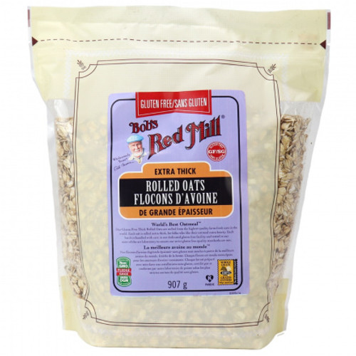 Extra Thick Rolled Oats - Gluten Free - Bob's Red Mill 907g