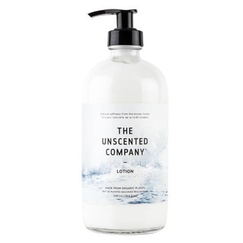 Body Lotion - Glass Pump Bottle 500ml - The Unscented Company
