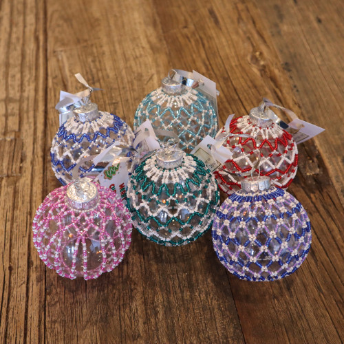Hand-Beaded Christmas Ornament