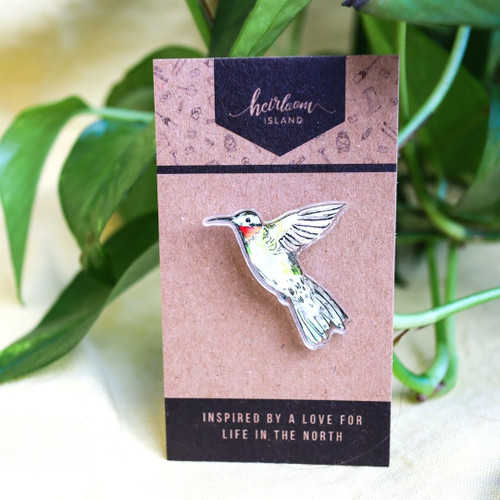 Ruby-Throated Hummingbird // Acrylic Pin