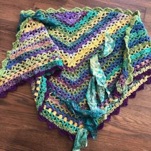 Women's Shawl (Wool + Silk)