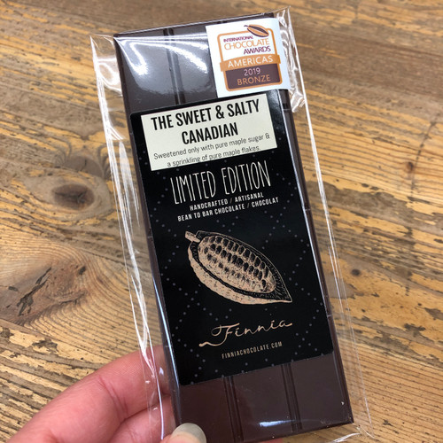 Finnia Chocolate - Sweet & Salty Canadian Bar 50g (Made on Manitoulin)
