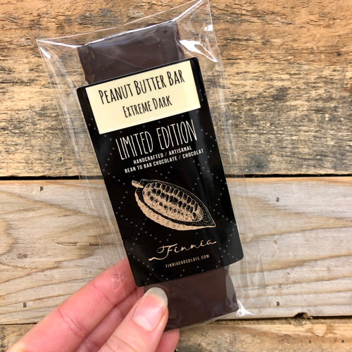 Finnia Chocolate - Extreme Dark Peanut Butter Bar (Made on Manitoulin)