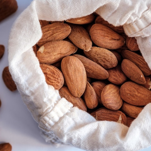 Organic Salted + Roasted Almonds (1lb)