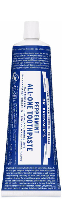 Dr. Bronner's Peppermint Toothpaste, 140g