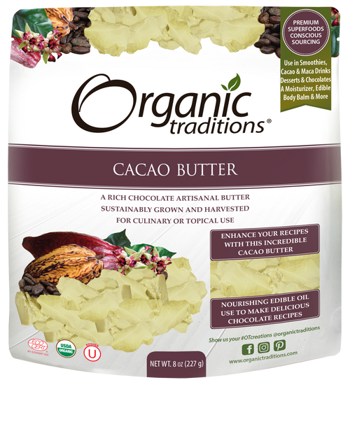 Organic Traditions Cacao Butter, 227g
